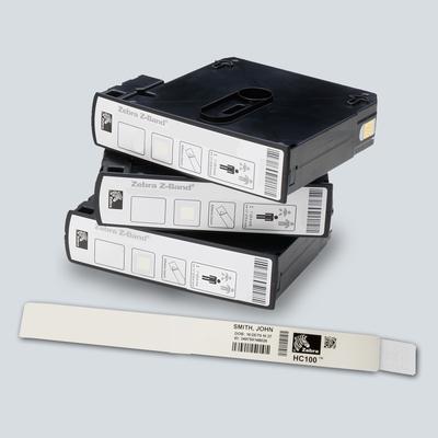 Zebra Z-Band Direct Etiket - Zwart, Wit