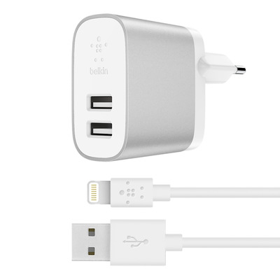 Belkin BOOST↑CHARGE Oplader - Zilver, Wit