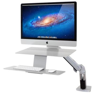 Ergotron notebooksteun: WorkFit-A, Sit-Stand Workstation - Zilver