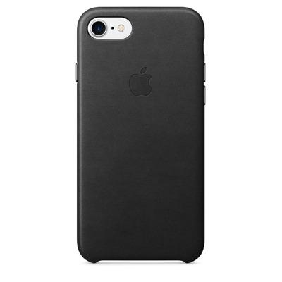 Apple mobile phone case: Leren hoesje voor iPhone 7 - Zwart