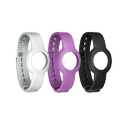 Jawbone horloge-band: Up Move Reg. Wristband - Onyx/Fog/Grape - Zwart, Paars, Wit