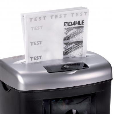 Dahle papierversnipperaar: 226 mm, 25 L, 350 W, P-3/T-3/E-2 - Zwart, Zilver