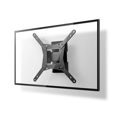 Nedis Full Motion TV-Muurbeugel, 10 - 32', Max. 30 kg, 1 Pivot Point Montagehaak - Zwart
