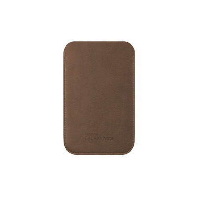 Samsung tablet case: Leather Pouch - Bruin