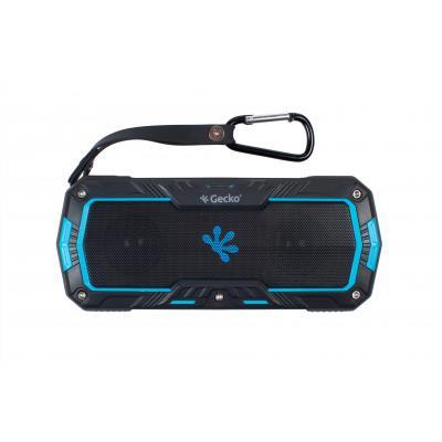 Gecko Speaker: - Waterproof Bluetooth speaker Rectangle - Zwart