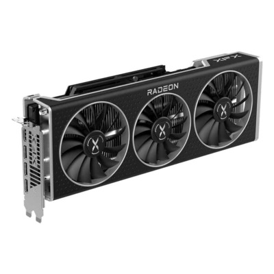 XFX 16GB, GDDR6, 256-bit, 2190MHz boost clock, HDMI, 3xDisplayPort, 2.7-slot Videokaart - Zwart,Roestvrijstaal