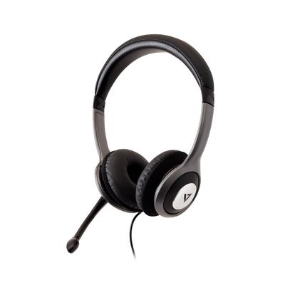 V7 HU521-2EP Headset - Zwart, Zilver