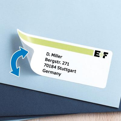 Herma adreslabel: Repositionable address labels A4 99.1x38.1 mm white Movables paper matt 350 pcs. - Wit