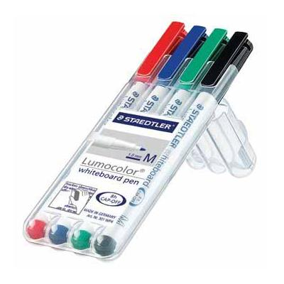 Staedtler markeerstift: ET. 4XWHITEBOARD PEN ASS LUMOC