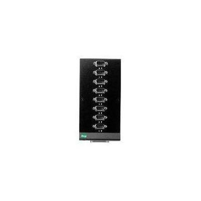 Digi netwerk splitter: 8-port DTE DB-9M connector box - Zwart