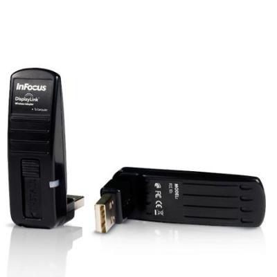 Infocus projector accessoire: Wireless DisplayLink-adapter - Zwart