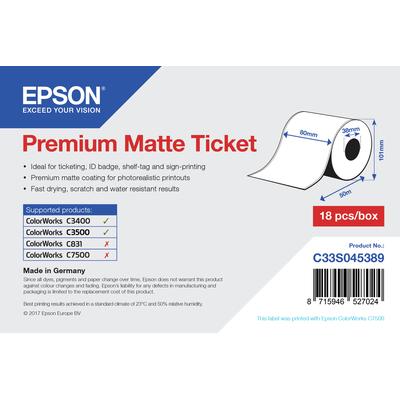 Epson Premium, 80mm x 50m, 107 g/m² Etiket