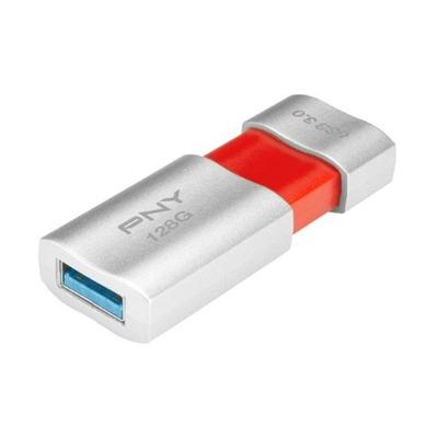 PNY Wave Attaché 3.0 128GB USB flash drive - Oranje, Zilver