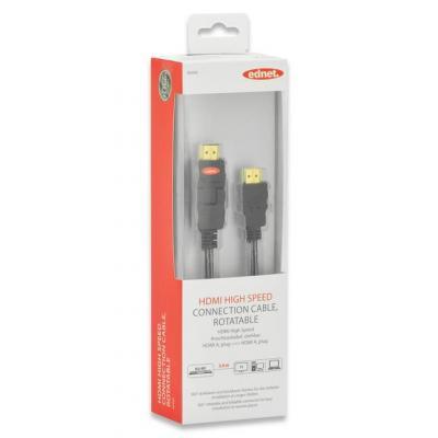 Ednet 3m HDMI m/m HDMI kabel - Zwart