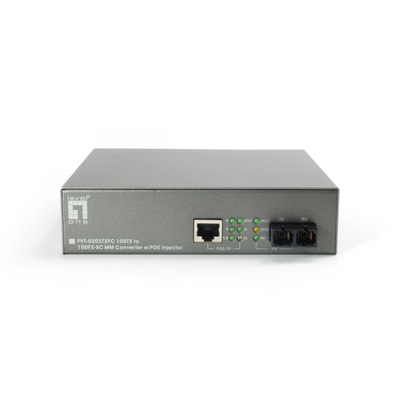 LevelOne FVT-0203TXFC Media converter - Zwart