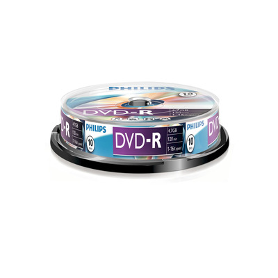 Philips 10 x-R, 4.7GB/120min, 16x DVD