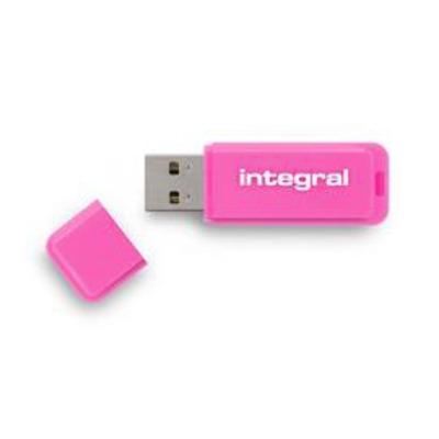 Integral USB flash drive: Neon - Roze