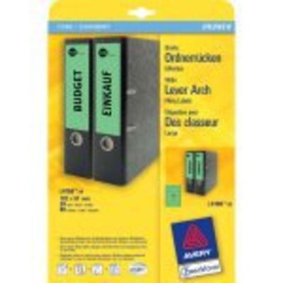 Avery Border Binder Labels, Green 192 x 61mm (100) Etiket