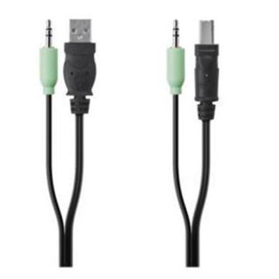 Belkin 4 pin USB A, 3.5mm/4 pin USB B, 3.5mm Kabel adapter - Zwart