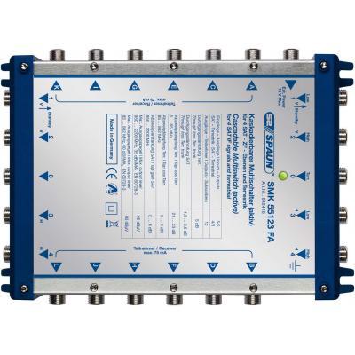 Spaun SMK 55123 FA Kabel splitter of combiner - Blauw, Zilver
