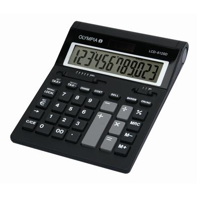 Olympia LCD 612 SD Calculator - Zwart