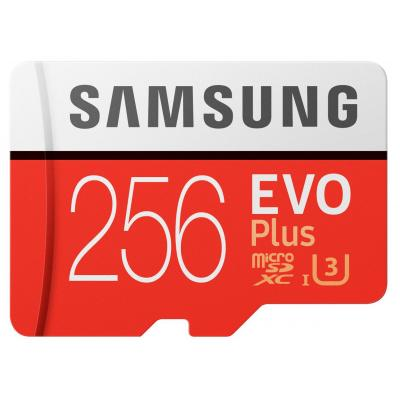 Samsung flashgeheugen: EVO Plus MB-MC256G - Rood, Wit