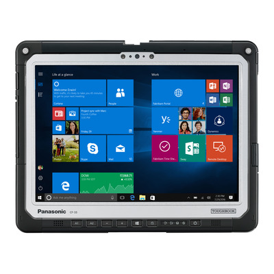 "Panasonic Toughbook CF-33 MK1 12"" QHD Touch 8GB RAM 256GB SSD 4G GPS (Tablet Only) Laptop - Zwart, Zilver"