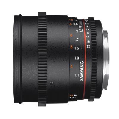 Samyang 85mm T1.5 VDSLR AS IF UMC II Camera lens - Zwart