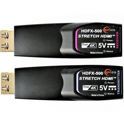Opticis One Fiber HDMI 2.0 Extender 4K@60hz AV extender - Zwart