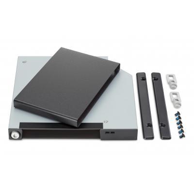 Hp behuizing: Frame en houder voor platte verwisselbare SATA-schijven - Zwart, Roestvrijstaal