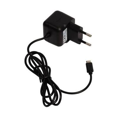 Valueline Micro USB AC charger, Micro USB male - AC home connector, 1.0m, black Oplader - Zwart