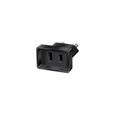 Brennenstuhl netvoeding: Travel Adapter USA/Euro - Zwart