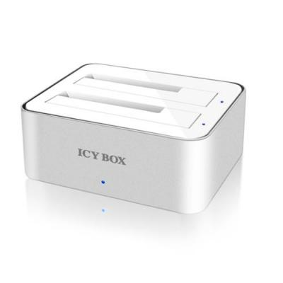 Icy box HDD/SSD docking station: IB-120StU3-Wh - Wit