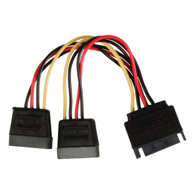 Valueline : SATA power splitter cable SATA 15-pin male - 2x SATA 15-pin female 0.15 m multicolour - Multi kleuren