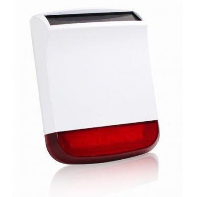 Chuango sirene: Solar-powered Wireless Outdoor Strobe Siren - Zwart, Rood, Wit