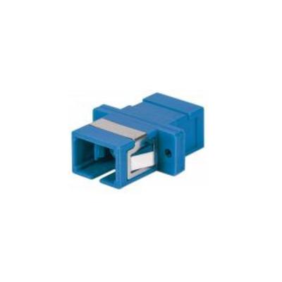 Intellinet SC Adapter, Single Mode Simplex, Zirconia Sleeve, Blue Fiber optic adapter - Blauw