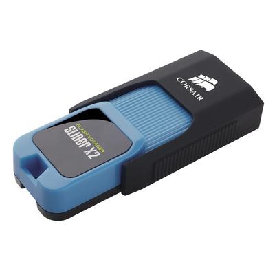 Corsair Flash Voyager Slider X2 USB flash drive - Zwart, Blauw