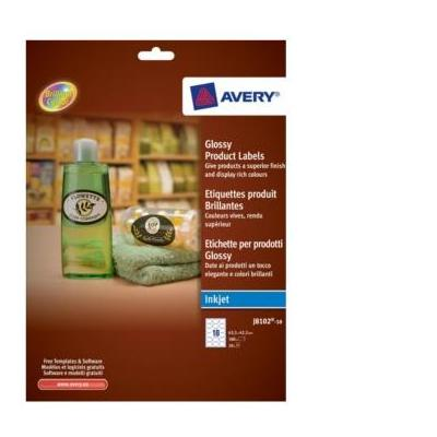 Avery etiket: Glossy Product Labels - Wit