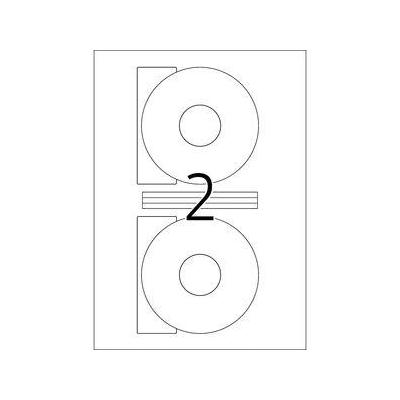Herma etiket: CD-etiketten wit Ø 116 A4 200 st.