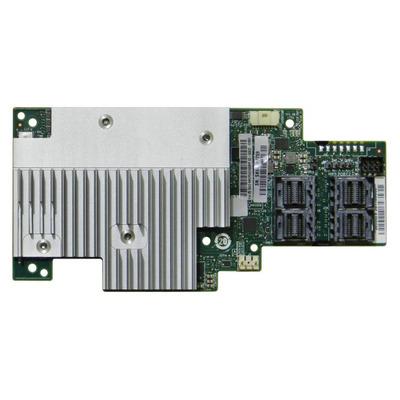 Intel Tri-mode PCIe/SAS/SATA Full-Featured RAID Mezzanine Module, 16 internal ports Raid controller