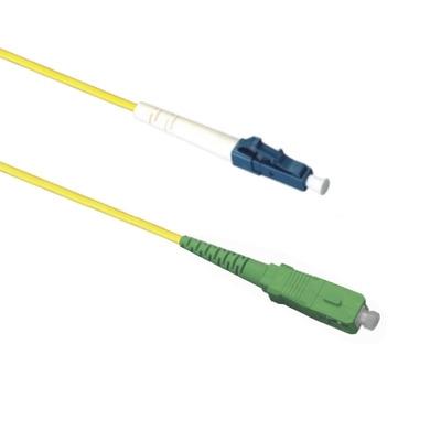 EECONN Glasvezel Patchkabel, 9/125 (OS1), SC/APC - LC, Simplex, 10m Fiber optic kabel - Geel