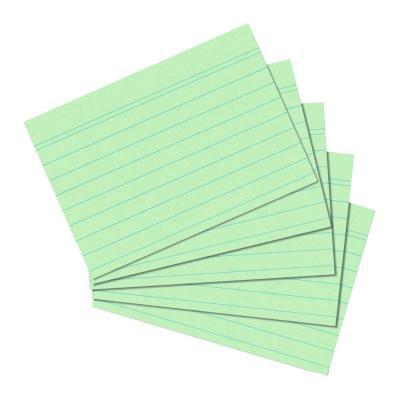 Herlitz index card A6 ruled green 100 pieces indexkaart - Groen