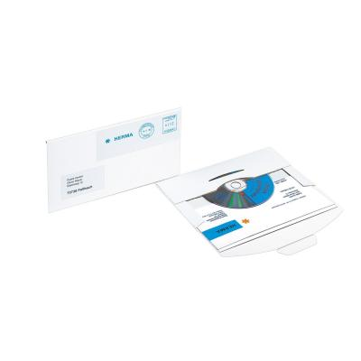 Herma : CD-PostPack mailing envelope with insert tab closure white 220x124 mm cardboard 10 pcs.