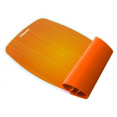 Fellowes Siliconen polssteun - sunset oranje muismat