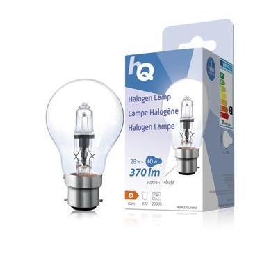 Hq halogeenlamp: Halogen lamp classic GLS B22 28W 370lm 2800K