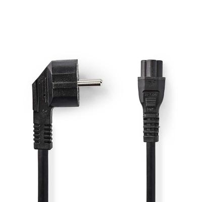 Nedis Schuko plug, angled, IEC-320-C5, 5.0 m, black Electriciteitssnoer - Zwart