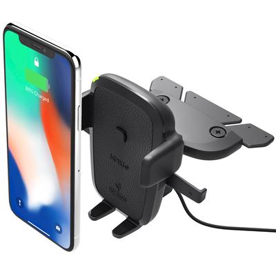 IOttie Easy One Touch Wireless Fast Charging CD-Slot Mount - Zwart / Black Houder
