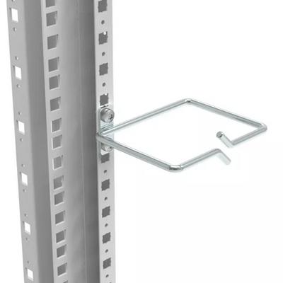 Minkels Set van 10 stuks stalen kabelring t.b.v. kabelbaan of framemontage 100mm b 80mm d Rack toebehoren - Wit