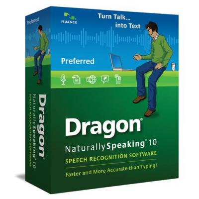 Nuance stemherkenningssofware: Dragon NaturallySpeaking Dragon NaturallySpeaking 10 Preferred, 20-50u, EN