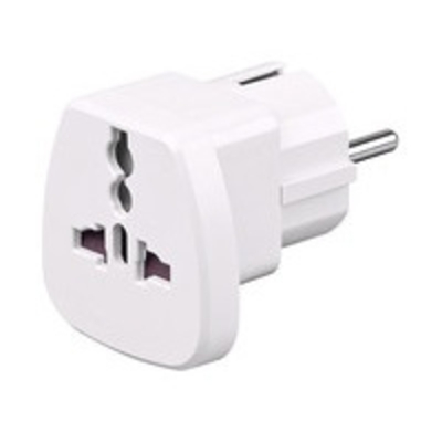 Microconnect Universal adapter Stekker-adapter - Wit